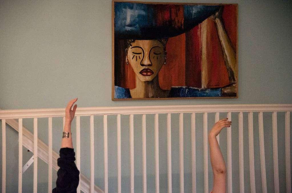 Chrish Kresge Feldenkrais in her studio